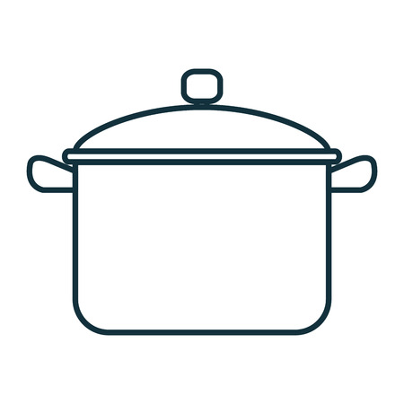 Un pot de cuisine isolé conception d'icône vector illustration.