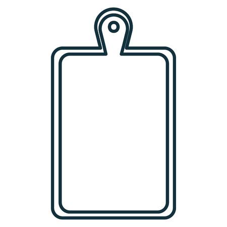 Een vector de illustratieontwerp van het keukenraad houten pictogram.