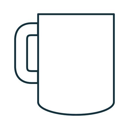 コーヒーのマグカップは、アイコン ベクトル イラスト デザインを分離しました。