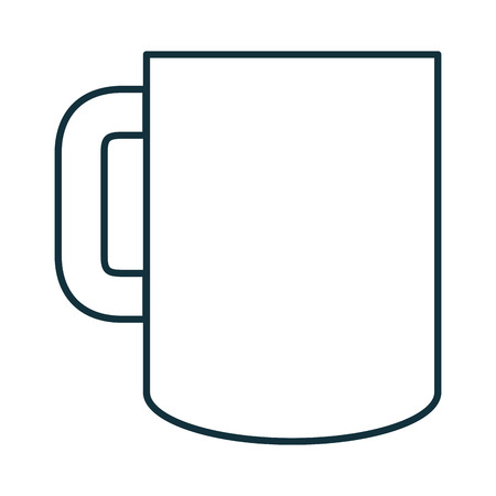 A coffee mug isolated icon vector illustration design.
