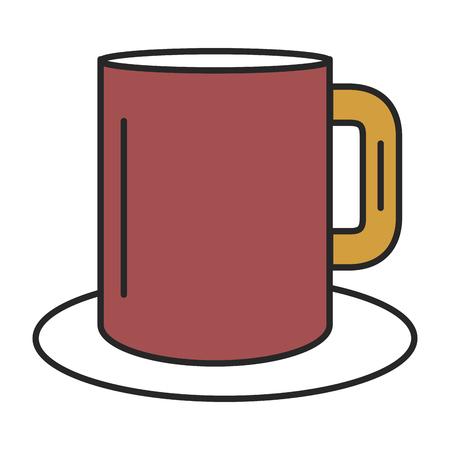 コーヒーのマグカップのアイコン ベクトル イラスト デザインを分離しました。 写真素材 - 81662727
