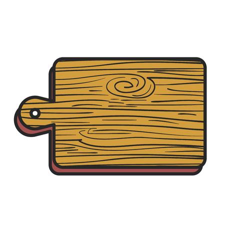 keuken bord houten pictogram vector illustratie ontwerp