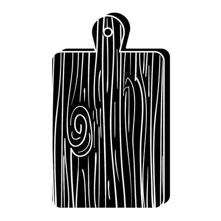 A kitchen board wooden icon vector illustration design.
