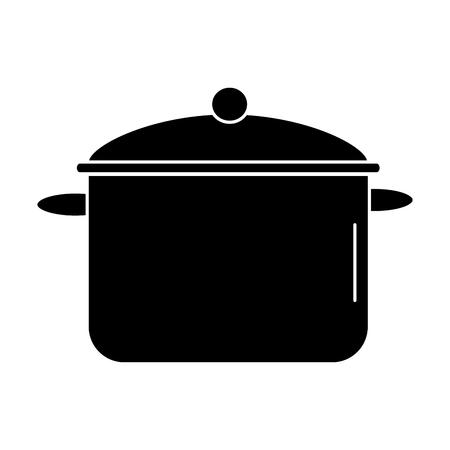キッチン ポットは、アイコン ベクトル イラスト デザインを分離しました。  イラスト・ベクター素材