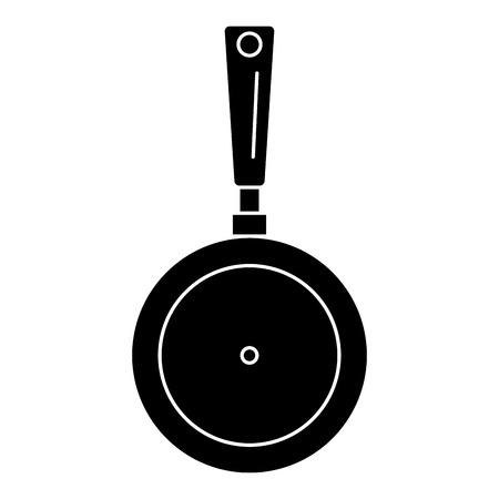 팬 주방 요리사 아이콘 픽토그램 벡터 일러스트 디자인