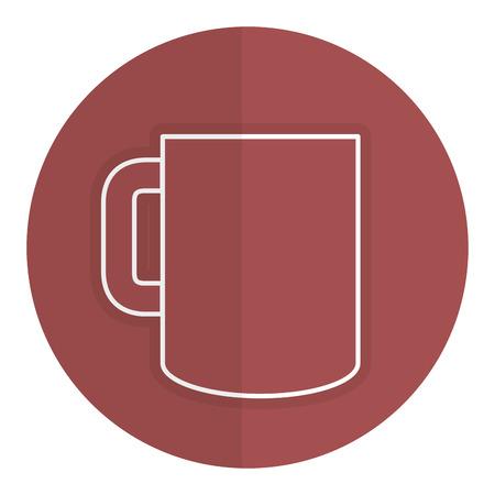 coffee mug isolated icon vector illustration design Ilustrace