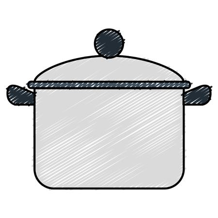 kitchen pot isolated icon vector illustration design Stock Vector - 81667734