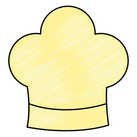 chef hat isolated icon vector illustration design Illusztráció