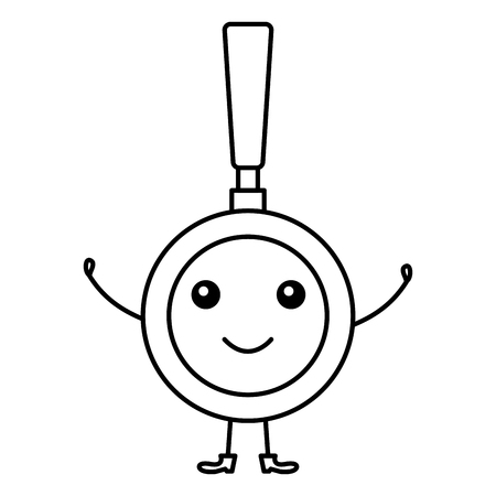 pan kitchen cook character vector illustration design Illustration