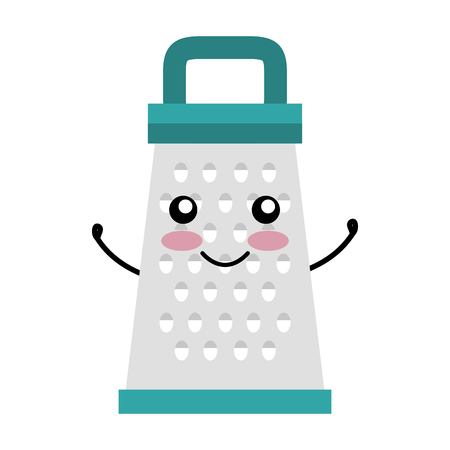 Kitchen grater  character vector illustration design