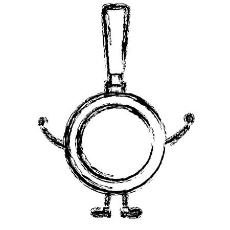 pan kitchen cook  character vector illustration design