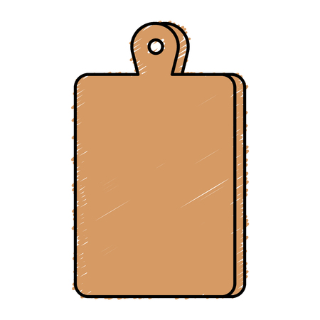 kitchen board wooden icon vector illustration design Stok Fotoğraf - 81672955