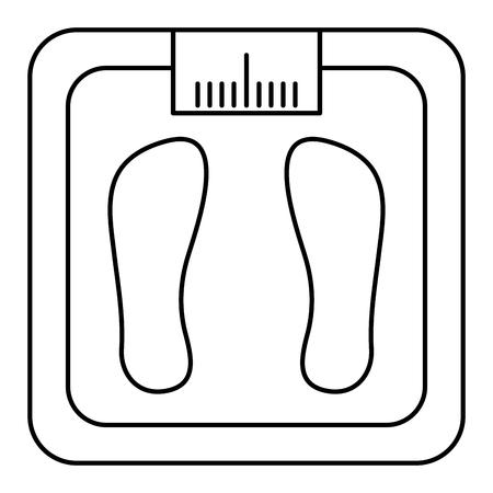 bathroom weight scale icon vector illustration design
