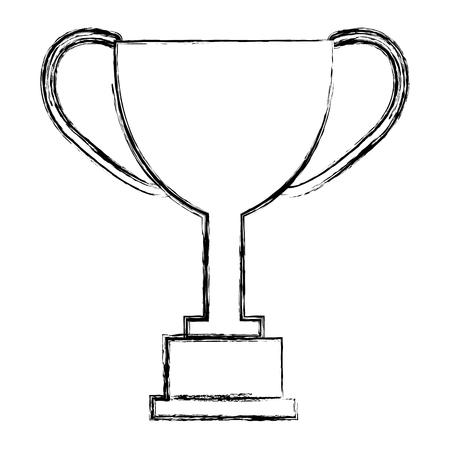 트로피 컵 수상 아이콘 벡터 일러스트 디자인