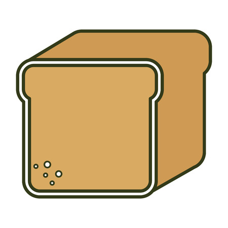 toasted: toast bread isolated icon vector illustration design