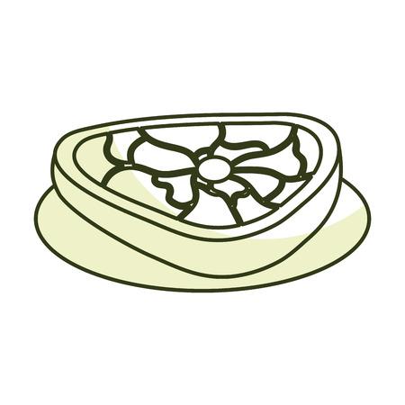 肉のステーキ分離アイコン ベクトル イラスト デザイン  イラスト・ベクター素材