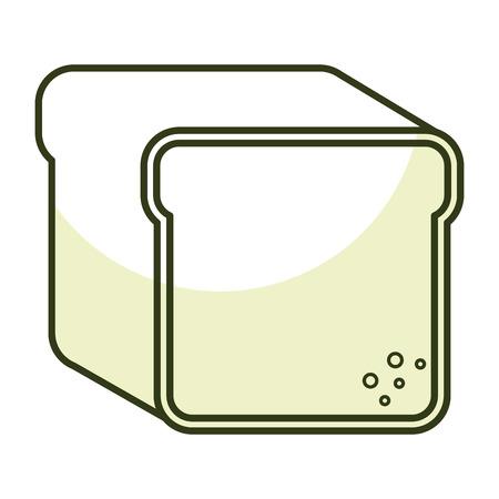 toast bread isolated icon vector illustration design