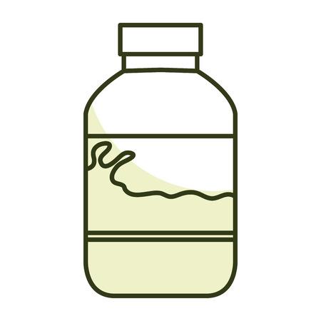 milk bottle isolated icon vector illustration design