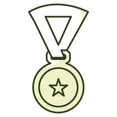 Premio medaglia isolato icona illustrazione vettoriale illustrazione Archivio Fotografico - 81673435