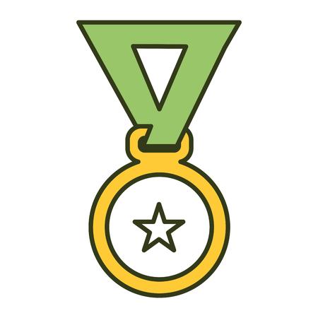 Premio medaglia isolato icona illustrazione vettoriale illustrazione Archivio Fotografico - 81669406