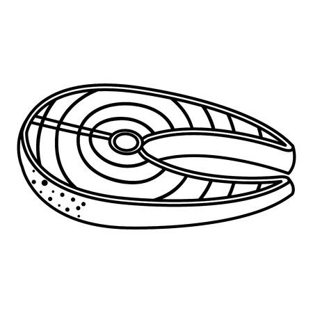 Fisch Steak Filet Symbol Vektor-Illustration Design Standard-Bild - 81669414