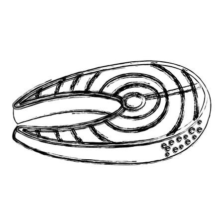 Fisch Steak Filet Symbol Vektor-Illustration Design Standard-Bild - 81669417