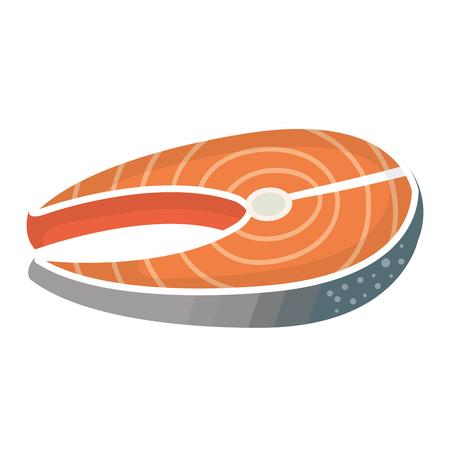 Illustrazione vettoriale illustrazione icona di filetto di bistecca di pesce Archivio Fotografico - 81669568