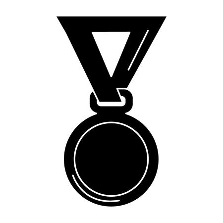 Premio medaglia isolato icona illustrazione vettoriale illustrazione Archivio Fotografico - 81669587
