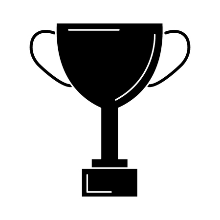 Trophy cup award icon vector illustratie ontwerp