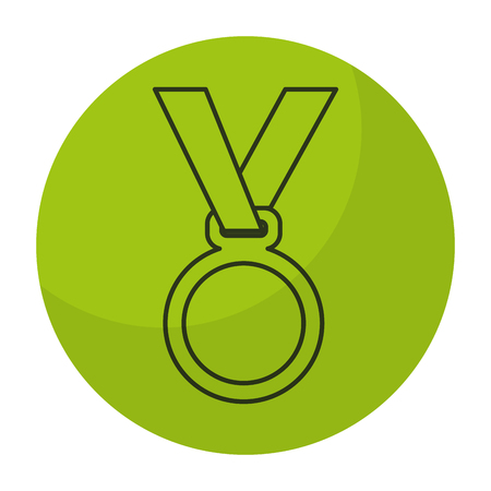 medal award isolated icon vector illustration design