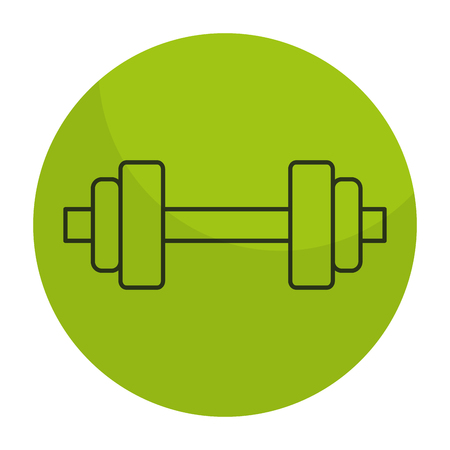 weight lifting device icon vector illustration design
