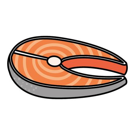 물고기 스테이크 필렛 아이콘 벡터 일러스트 디자인 일러스트