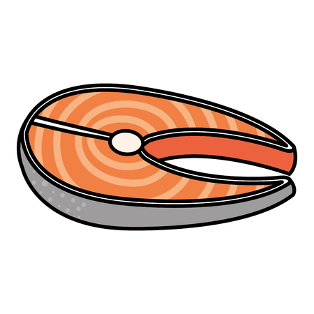 Fisch Steak Filet Symbol Vektor-Illustration Design Standard-Bild - 81670400