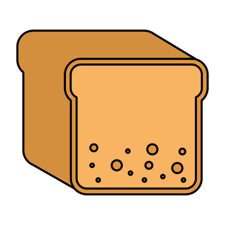 toast bread isolated icon vector illustration design