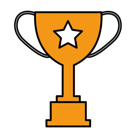 trophy cup award icon vector illustration design