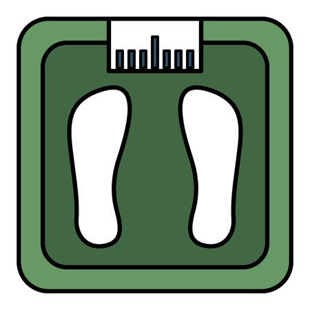 bathroom weight scale icon vector illustration design Banco de Imagens - 81670422