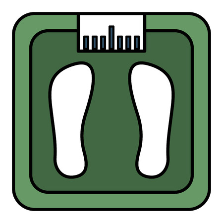 bathroom weight scale icon vector illustration design