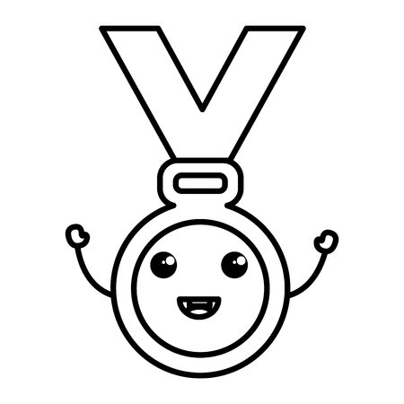 medal award character vector illustration design Ilustração