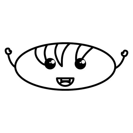 delicious bread character vector illustration design 向量圖像