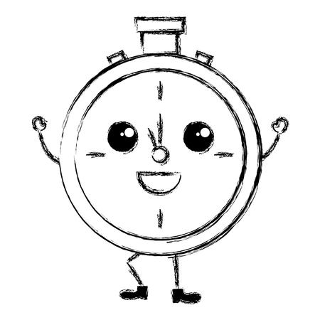 cronometro: cronómetro temporizador carácter ilustración vectorial diseño