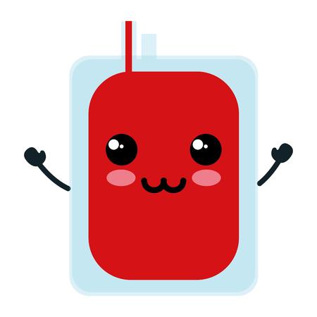 Donar diseño de ilustración de vector de personaje de bolsa de sangre Foto de archivo - 81670668