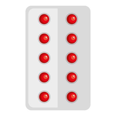ontwerp van de pillen het medische geïsoleerde pictogram vectorillustratie