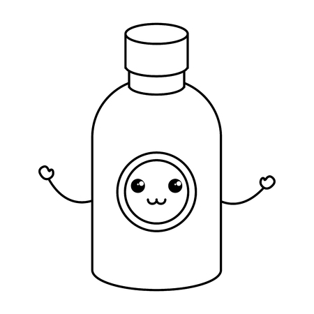prescription bottles: bottle drugs kawaii character vector illustration design