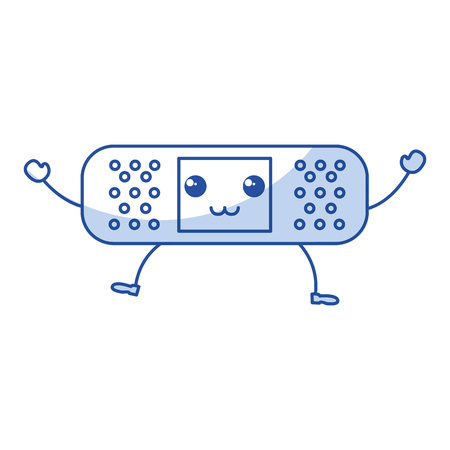 cure band kawaii character vector illustration design Imagens - 81671022