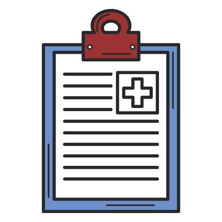 medische order geïsoleerde pictogram vector illustratie ontwerp
