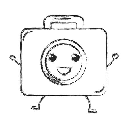 medical kit kawaii character vector illustration design 向量圖像