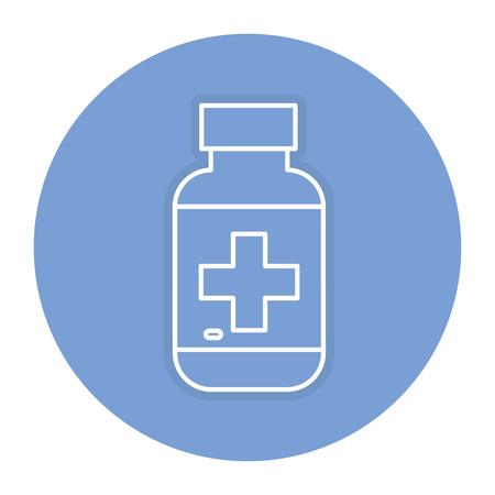 dosage: bottle drugs isolated icon vector illustration design