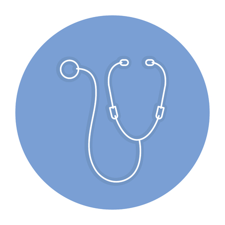 stethoscope medical isolated icon vector illustration design Ilustração