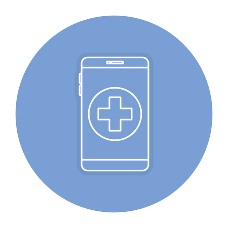 responsive: smartphone device with medical app vector illustration design