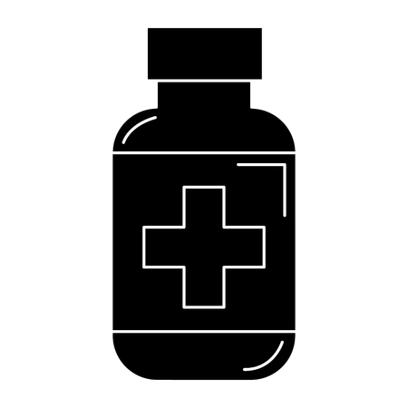 bottle drugs isolated icon vector illustration design Фото со стока - 81671596